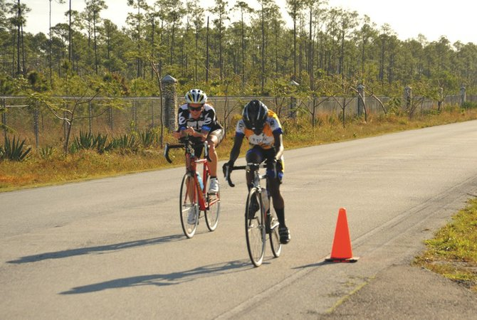 Cyclists compete in the Potcake Biathlon