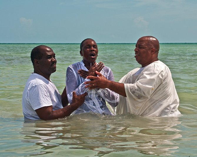 Scenes from Easter Water Baptism