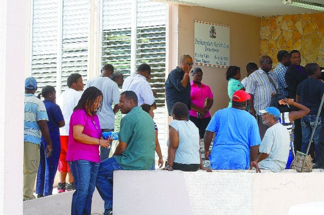 The Parliamentary Registration Department was swarmed with people on Tuesday morning.