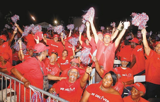 FNM supporters at Thursday night's rally.