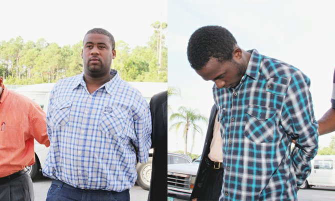 Armed robbery suspects Ryan Pinder (left) and Jamaal Lightbourne.