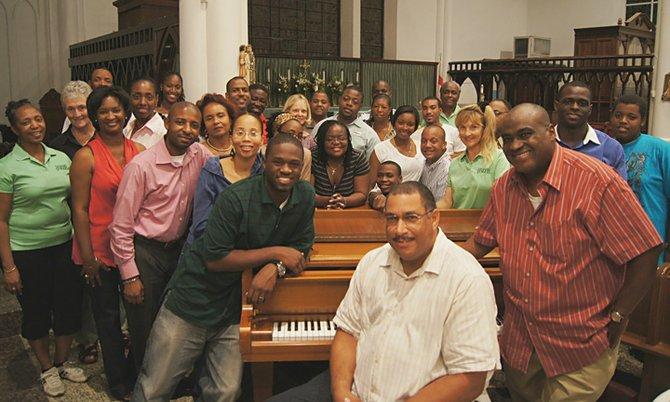 Members of the Highgrove Singers.