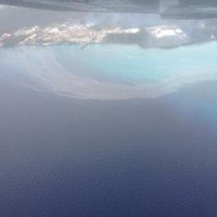 good aerial picture of the continuous BEC oil leak, this happens every single day, its just a matter of were the wind blows it, its so frustrating to watch a country shit all over the ocean that keeps people coming, no one will care till the waters black and tourist stop coming and giving them money. we have to drive our boats through this and dive through it every day in one spot or another, its embarassing to have to explain it to tourists how come here to give money to a country that doesn't care.