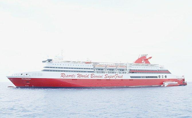 Resorts World Bimini SuperFast Makes Inaugural Voyage The Tribune - Bimini superfast cruise ship