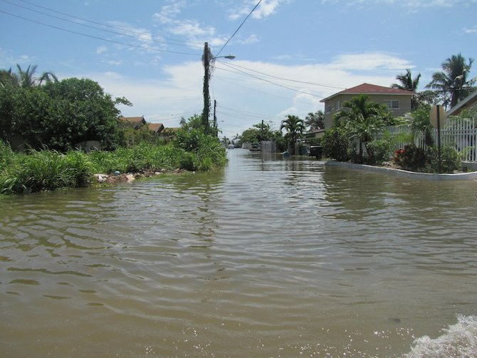 Heavy rainfall has caused serious flooding in New Providence in previous hurricane seasons.