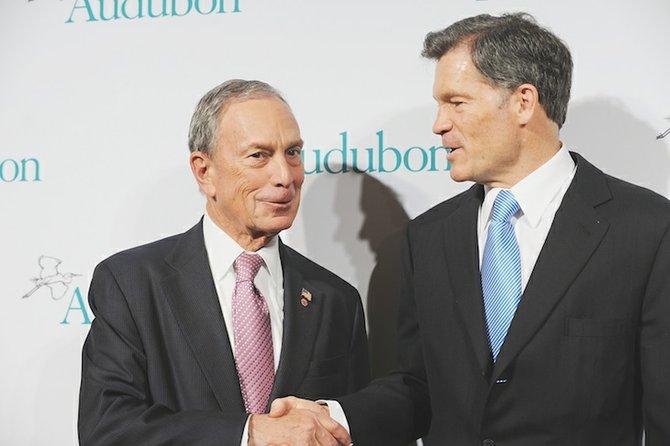 New York mayor Michael Bloomberg thanks Louis Bacon, Moore Charitable Foundation.