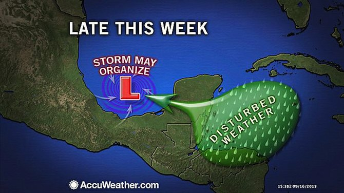 AccuWeather.com forecast graphic for the rest of this week.