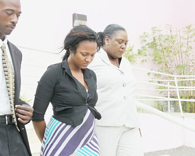 23-year-old Apolonia McLean-Smith at court yesterday.