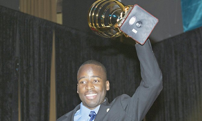 Adrian Wildgoose who received the Minister's Cup Award.