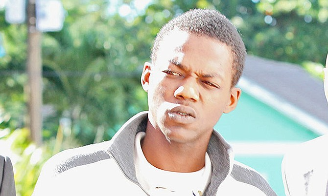 Tiano d'Haiti, 23, who is accused of the murder of Glenn Cartwright.