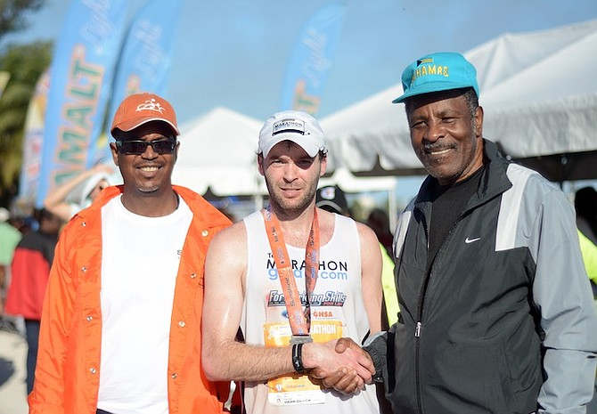 Marathon winner Justin Gilette.