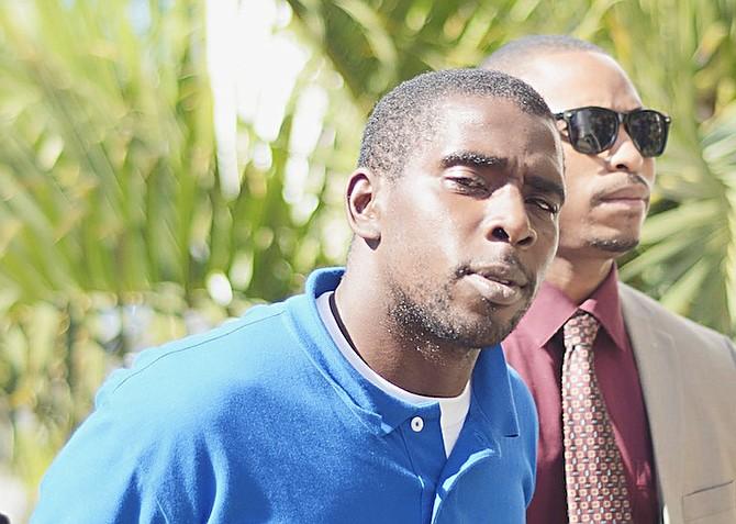 Axanthio Patrick Thompson outside court yesterday.
