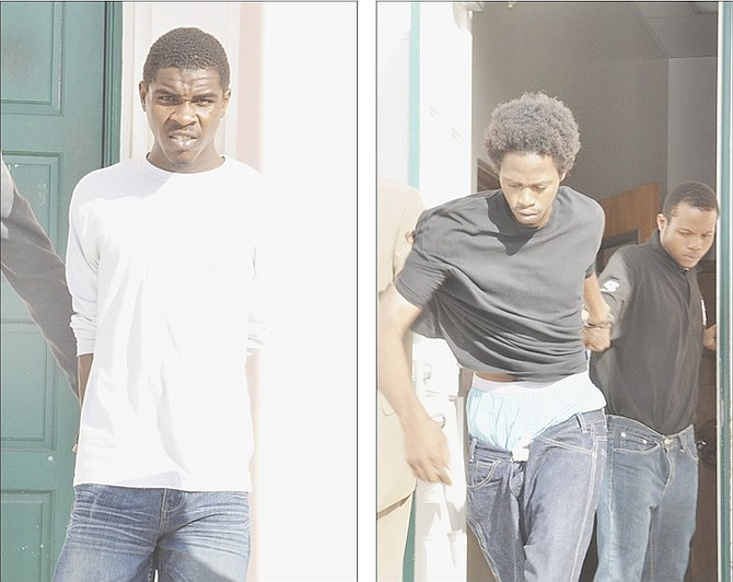 FROM LEFT: Hudson Roberts, one of eight people charged in connection with a stolen vehicle ring on Grand Bahama. Ethan Duncombe and Deijon Cox were also charged.