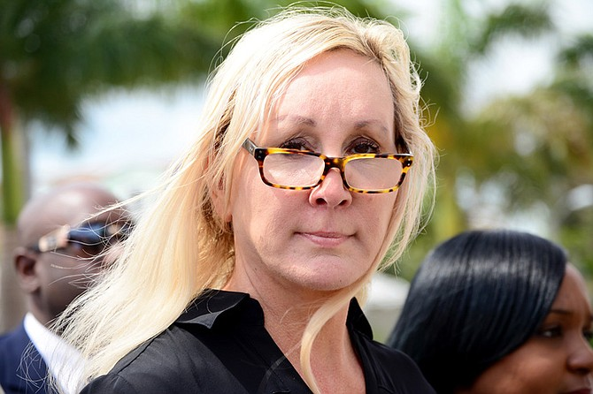 Donna Vasyli at an earlier court appearance.