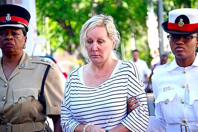 Donna Vasyli outside court.