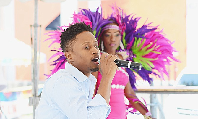 Dyson Knight performing at the Park and Party fundraising event.