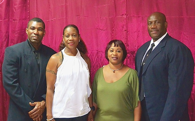 NEWLY elected BBFF officers (l-r) vice president Kenny Greene, secretary general Lillian Moncur, treasurer Oreatheia Mackey and president Joel Stubbs.