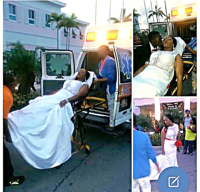 Pictures posted on Facebook showing the ambulance being used during prom.