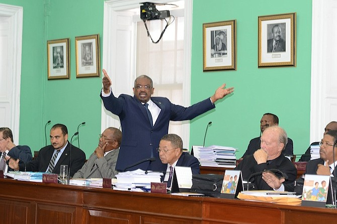Dr Hubert Minnis in the House of Assembly.