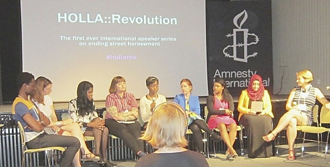 Ambassador for Hollaback! Bahamas Sabria Thompson was among several international speakers and activitists at the Holla Revolution conference in London.