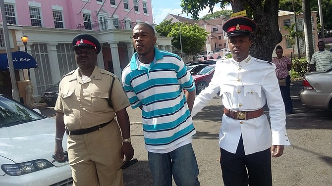 Lathario Miller outside court.