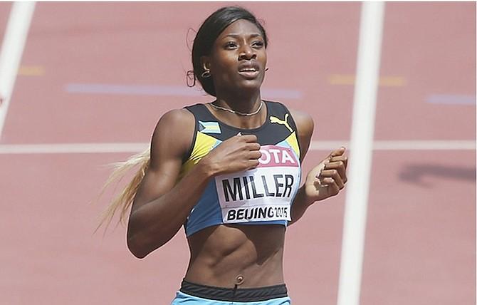 Shaunae Miller in action in Beijing. (AP)
