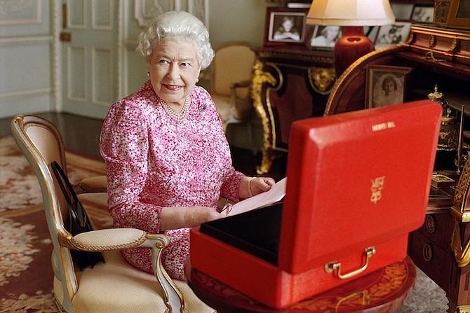 Britain's Queen Elizabeth II. (Mary McCartney/Queen Elizabeth II via AP)