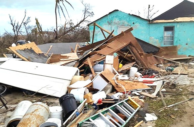 Damage on Crooked Island. Photo: Shantelle Nicole