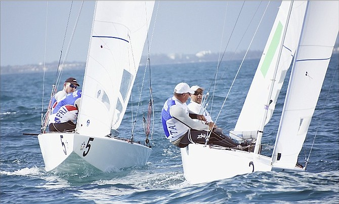 STAR SAILORS in action on day 2 of the League Finals in Montagu Bay yesterday.
