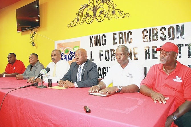 THE ORGANISERS of the 2nd All-For-One Regatta - in memory of King Eric Gibson - can be seen during a press conference to announce the event all set for Montagu Beach January 7-9.