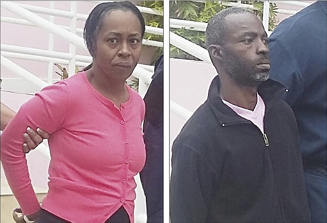 LEFT: Lynette Charlton outside court where she was charged with murder.  RIGHT: Davardo Newton at court.  Photos: Lamech Johnson/Tribune Staff