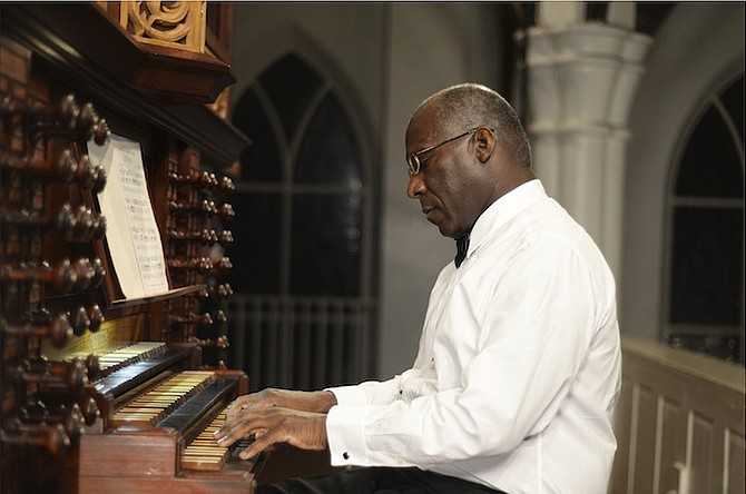 Dr Sparkman Ferguson performing his 17th Annual Epiphany Recital For Solo Organ at Christ Church Cathedral. Photos: Shawn Hanna/Tribune Staff