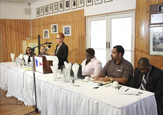 The Bahamas Insurance Brokers Association NHI seminar at the Nassau Yacht Club East.