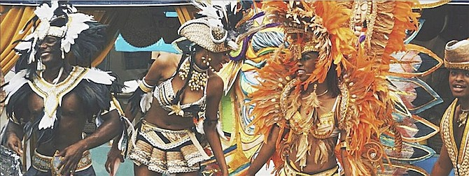 Tribune News 242  Bahamas Masqueraders at Bahamas Junkanoo Carnival