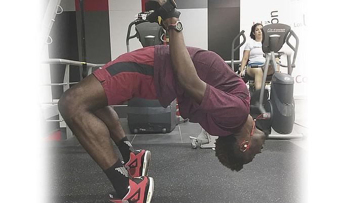 Donald Thomas in training.