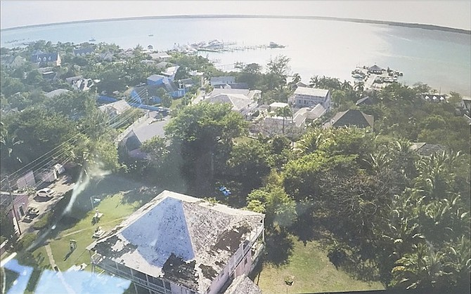 Aerial view of the Commissioner's Residence in Dunmore Town Harbour Island. Photo: Chris Mader