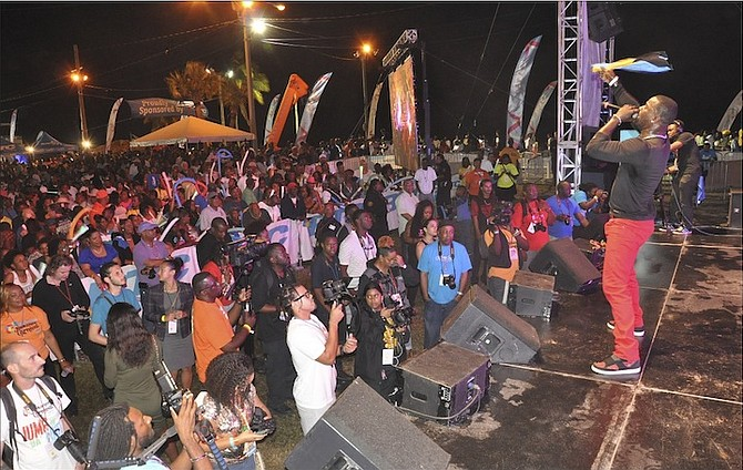 The crowd at Carnival in Grand Bahama last year.