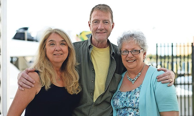From left, Ann Hood, Lee Child and Karen Dionne. Photo: Shawn Hanna/Tribune Staff