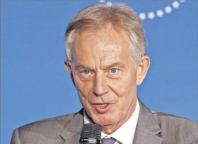 Former United Kingdom Prime Minister Tony Blair.