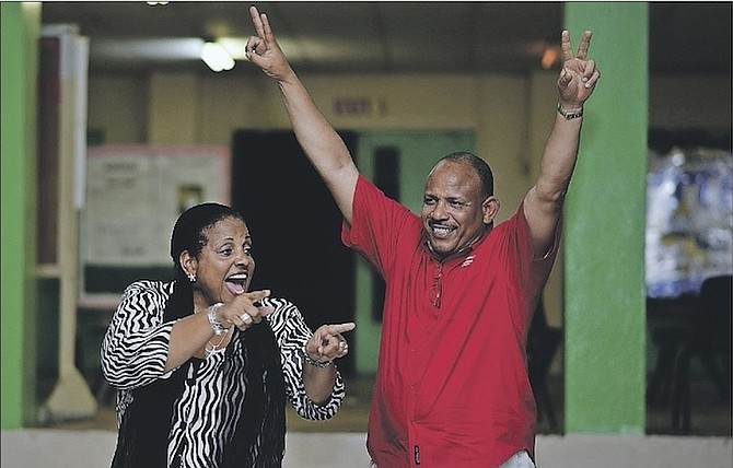 Loretta Butler-Turner and Dr Duane Sands at a meet and greet at SC McPherson school. Photo: Shawn Hanna/Tribune Staff