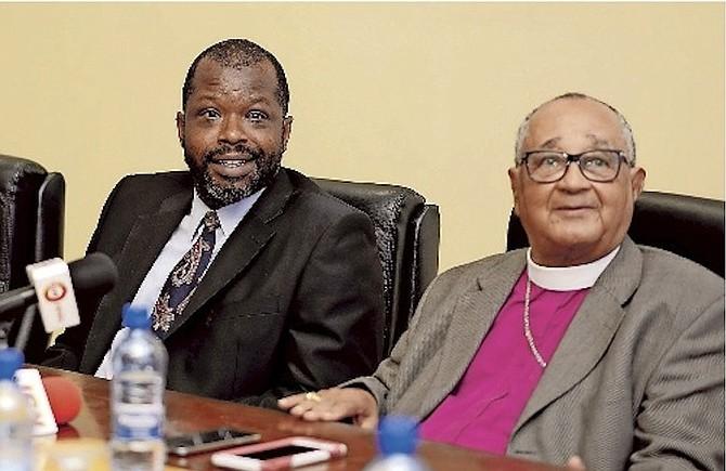 Wayne Munroe and Archbishop Drexel Gomez.