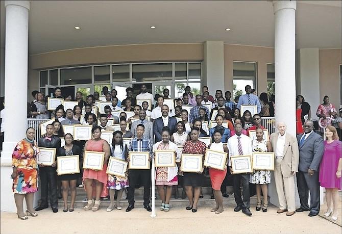 The award winners at the scholarship award ceremony. Photo: Tim Clarke/Tribune Staff