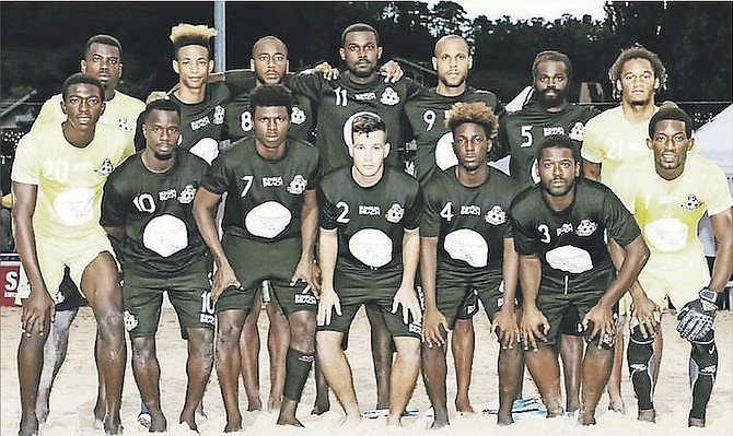 The Bahamas beach soccer team scored an historic win against the No.15 ranked USA men's national team in Spiez, Switzerland, on Saturday.