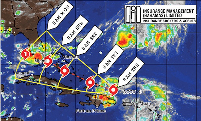 Southern Bahamas islands warned weather system will bring flooding