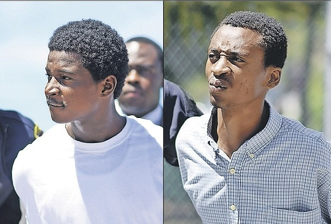 Jakota Johnson, left, aged 19, and Cuentino Carey, aged 23, who are charged with the murder of two men and the attempted murder of a young boy in Peardale. 
