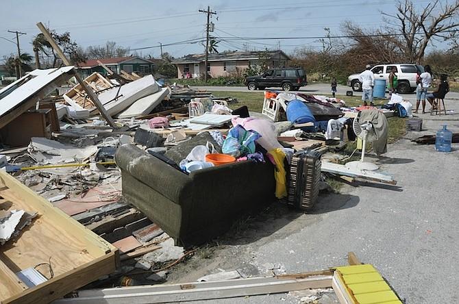 The aftermath of Hurricane Matthew on Grand Bahama. Photo: Vandyke Hepburn