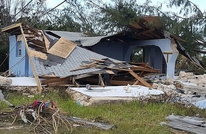 Lowe Sound, Andros after Hurricane Matthew.