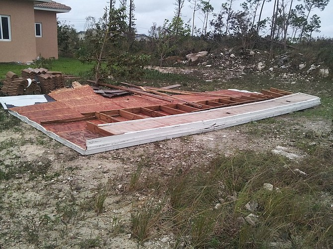 Damage in Grand Bahama.