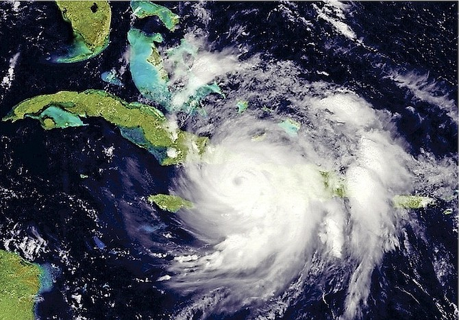 Hurricane Matthew pictured as it made its way across Cuba and Haiti and headed for The Bahamas in 2016.