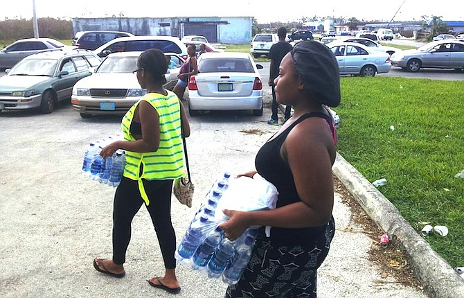 Collecting water from Yellow Pine Street in Freeport.